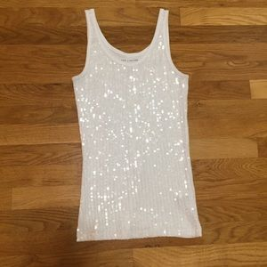 The Limited Perfect Tank Sequined Top